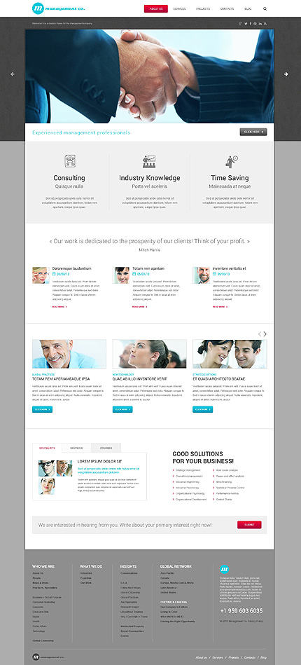 Management Campaigns WordPress Theme for business