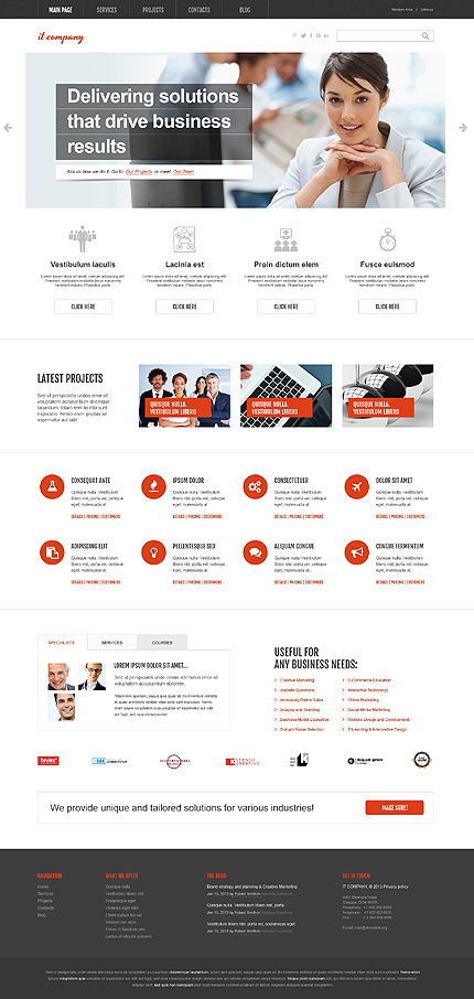 Clean IT Design - IT Company Business WordPress Theme