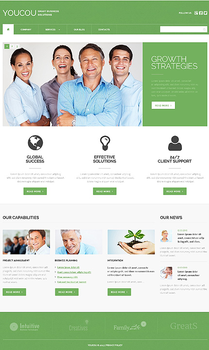 Solutions For Business WordPress Theme