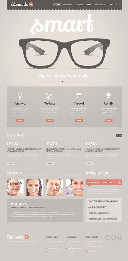 Smart Solutions - Consulting Bureau Business WordPress Theme