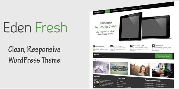 Eden Fresh - Free WordPress Theme