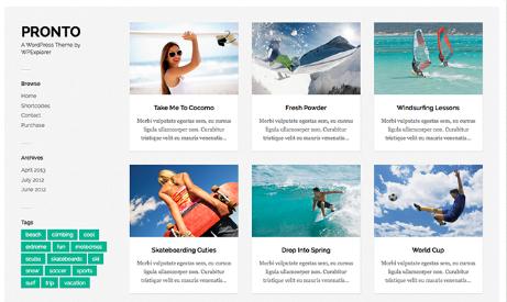 Pronto - Free WordPress Theme