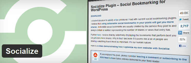 Socialize Social Sharing WordPress Plugin