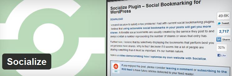 Socialize Social Sharing WordPress Plugin