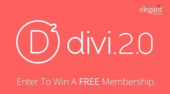 Divi 2.0 Giveaway