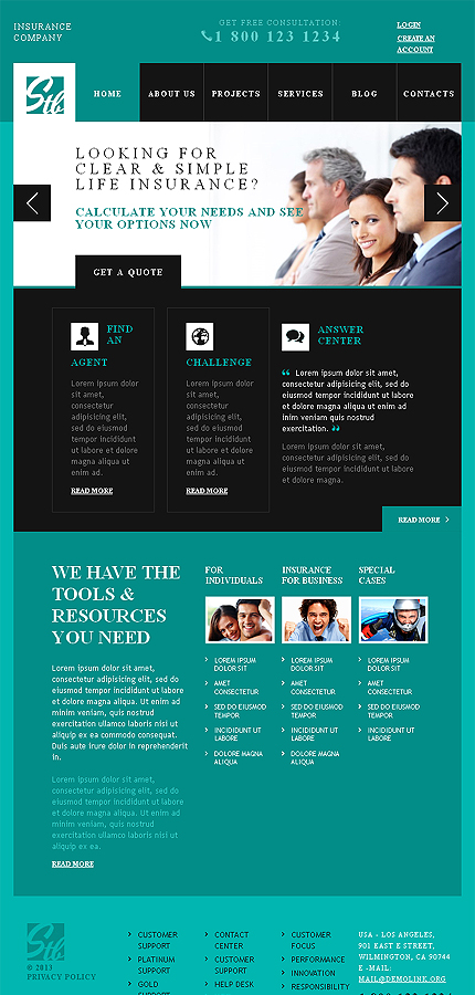 Advisor Insurance WordPress Themes