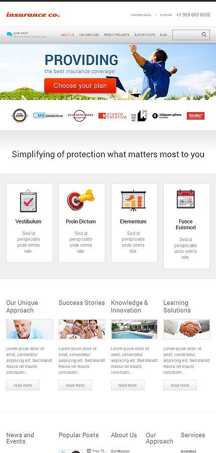 Benefits Insurance WordPress Themes