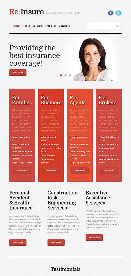 Insurance Business WordPress Theme
