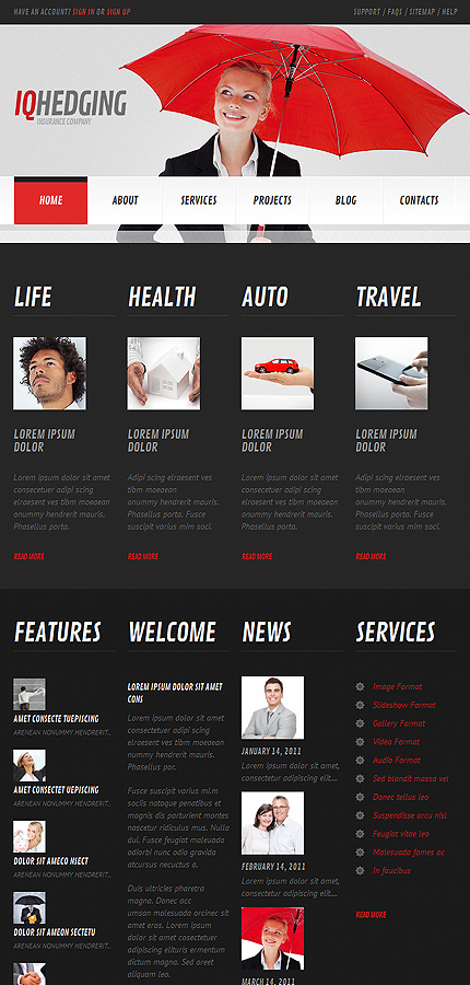 Insurance Responsive WordPress themes 2