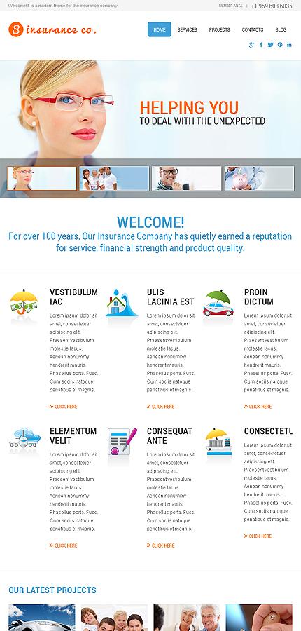 Services Insurance WordPress Themes
