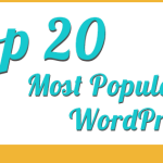 Top 20 Popular WordPress Plugins (Infographic)