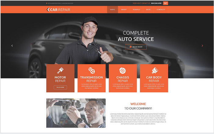 Car Repaid - Best WordPress Themes For Small Business