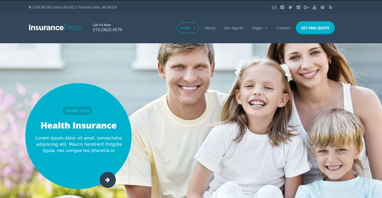 Best Insurance WordPress Themes Collection