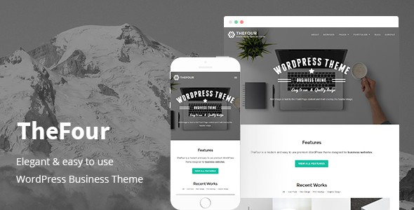 TheFour - Elegant WordPRess theme