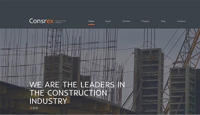Construction Company Responsive WordPress Theme