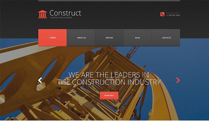 Skyscraper Construction WordPress Theme