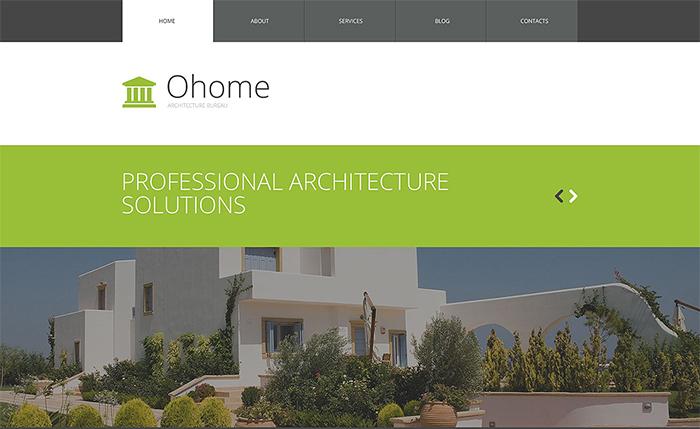 oHome Architecture WordPress Theme