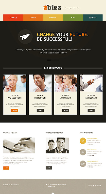 2bizz wordpress business theme