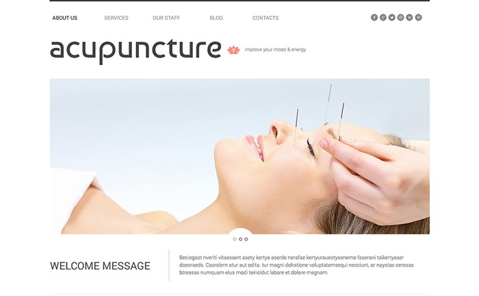 Acupuncture - Massage Salon Multipurpose Theme