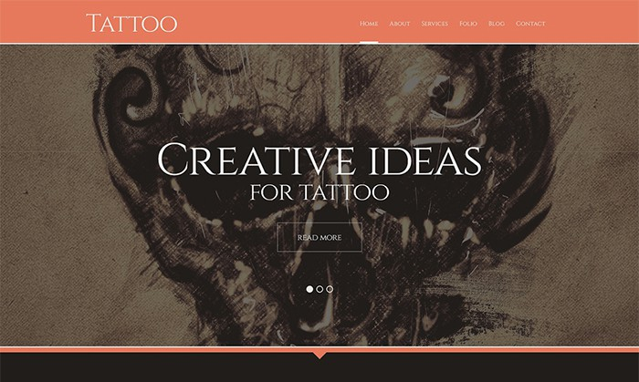 Outstanding Tattoo Salon theme