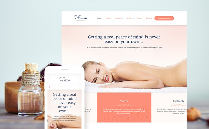Fiona - Beauty Spa and Massage Salon WP template