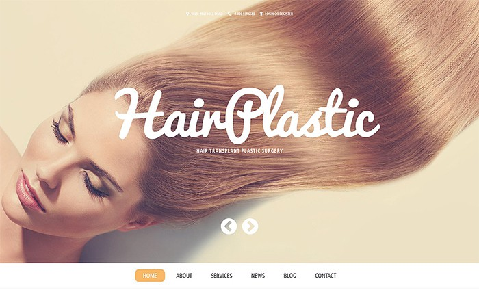 Hair Plasitc - Hair Transplantation Services WP theme