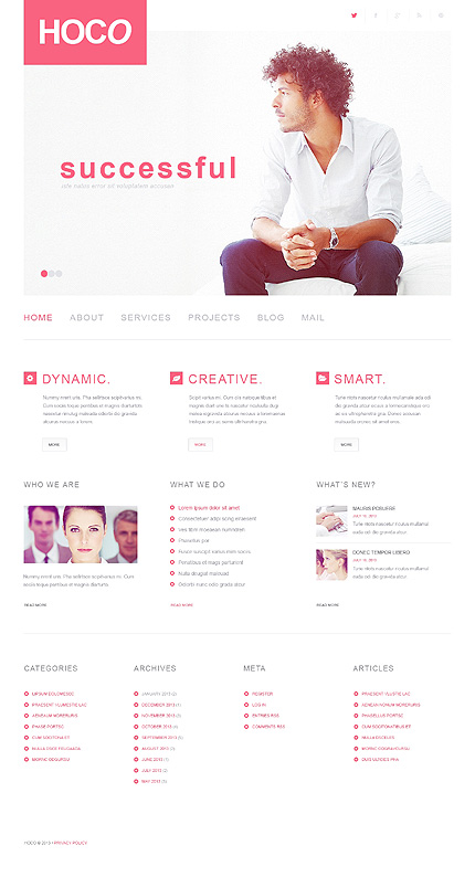 hoco wordpress business theme