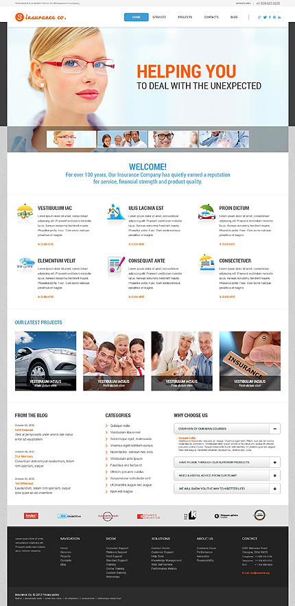 Top 25 best wordpress business themes in 2017 for business websites insurance agency wordpress business theme wajeb Choice Image