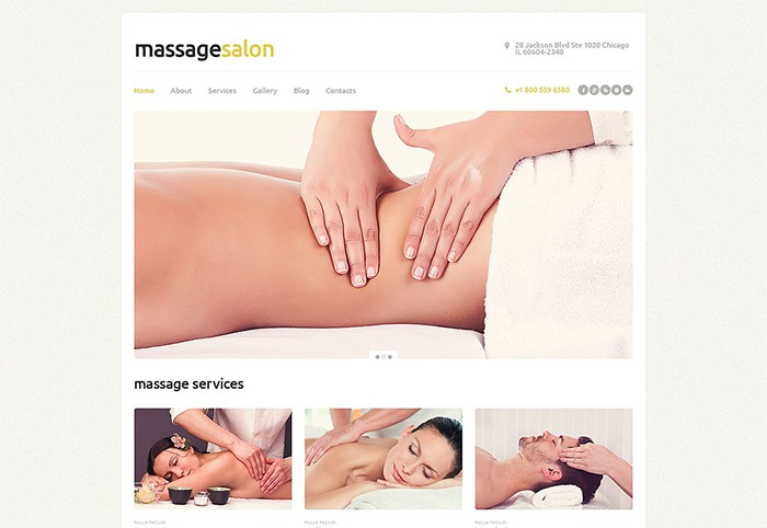 Massage Salon – Multi-functional Theme