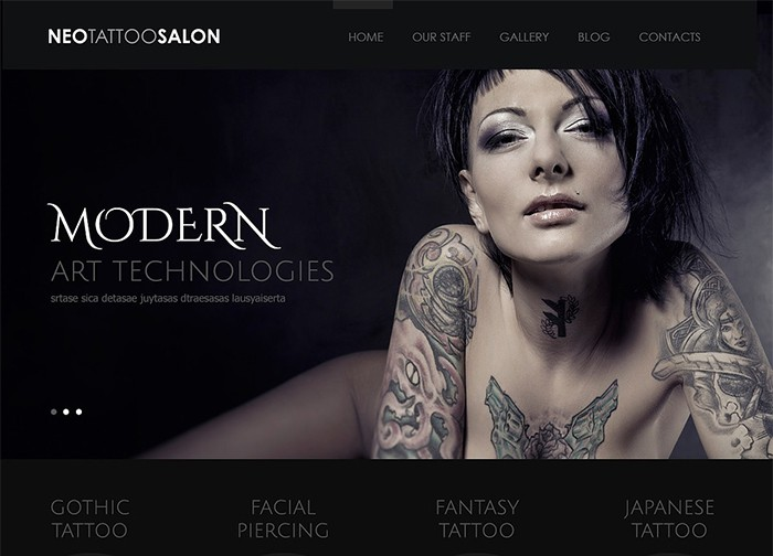 NEO Tattoo - Tattoo Artists Theme