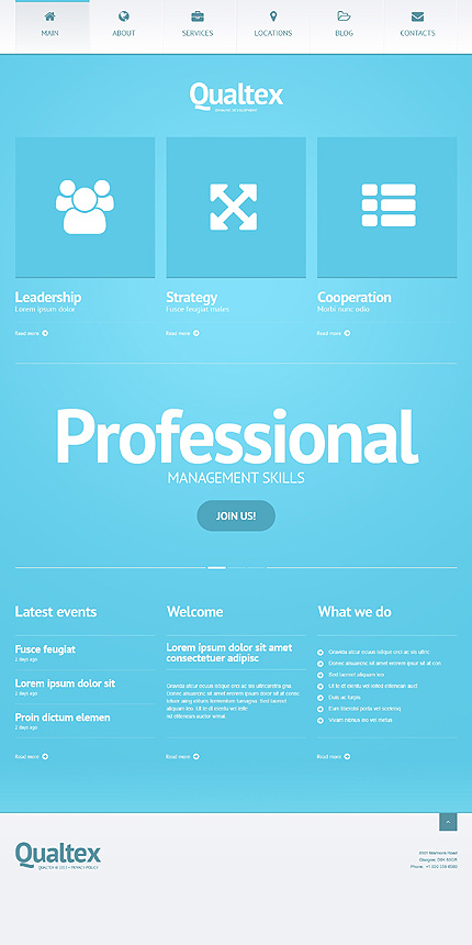 qualtext WordPress business themes