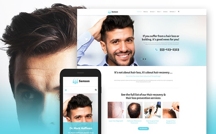 Samsom – Hair Salon Theme WP themes