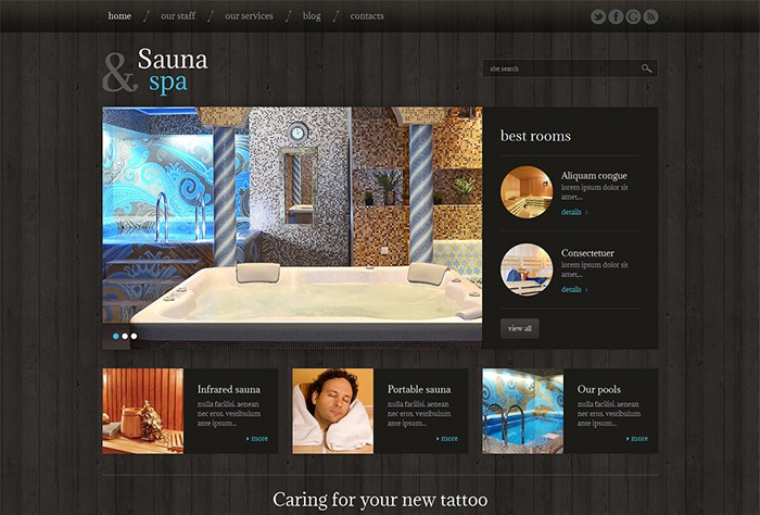 Sauna & Spa Modern WordPress Theme