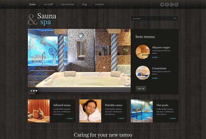 Sauna & Spa Modern WordPress Theme