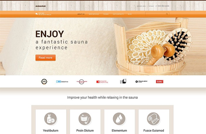 Sauna Services WordPress theme