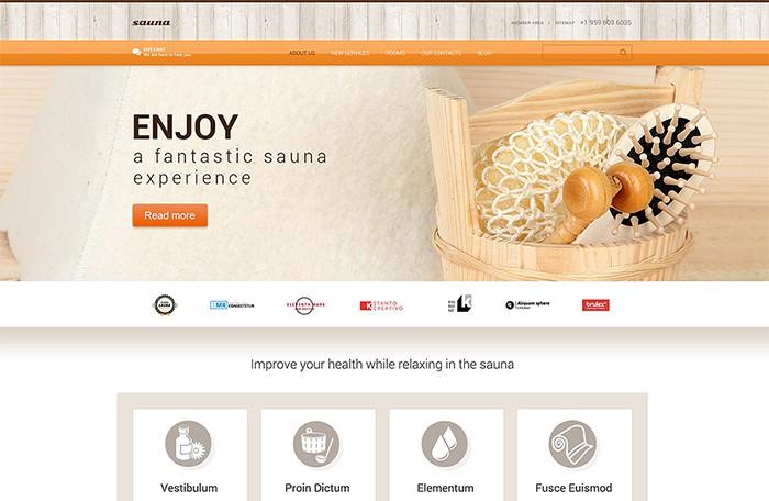 Sauna Services WordPress theme
