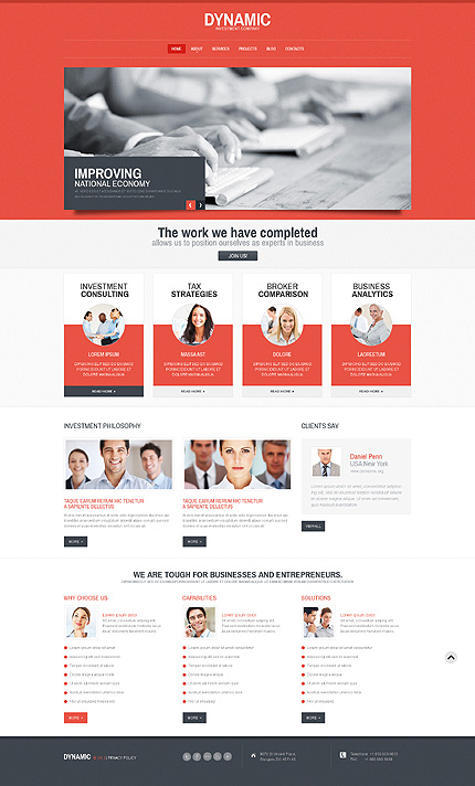soft red business wordpress theme