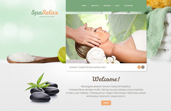 Spa & Relax - Spa Accessorizes WordPress Template