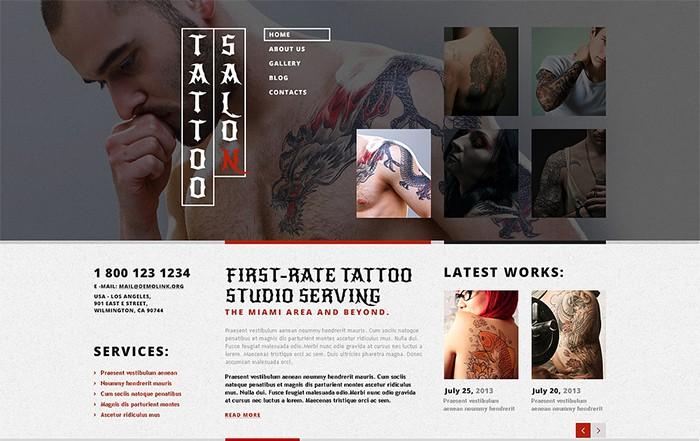 Tattoo Salon Responsive WordPress Theme