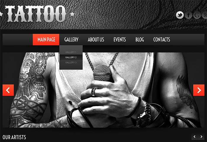 Tattoo - Eye-catching Tattoo Salon Theme