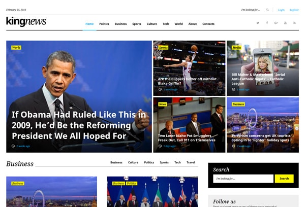 KingNews magazine wordpress theme