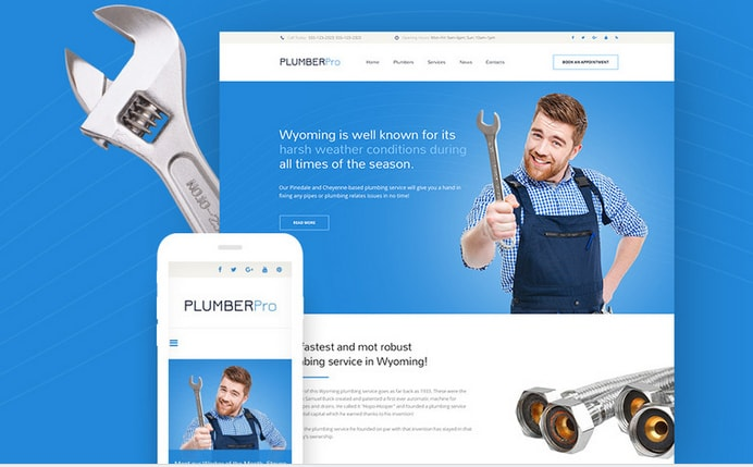 Plumberpro Responsive Business Corporate Template