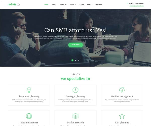 Advisto Financial WP Theme