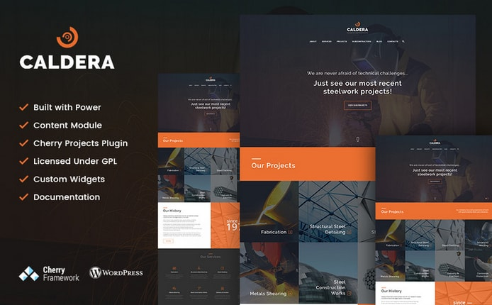 caldera corporate business theme