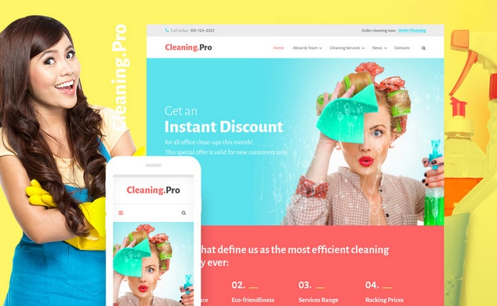 cleaningpro home business theme