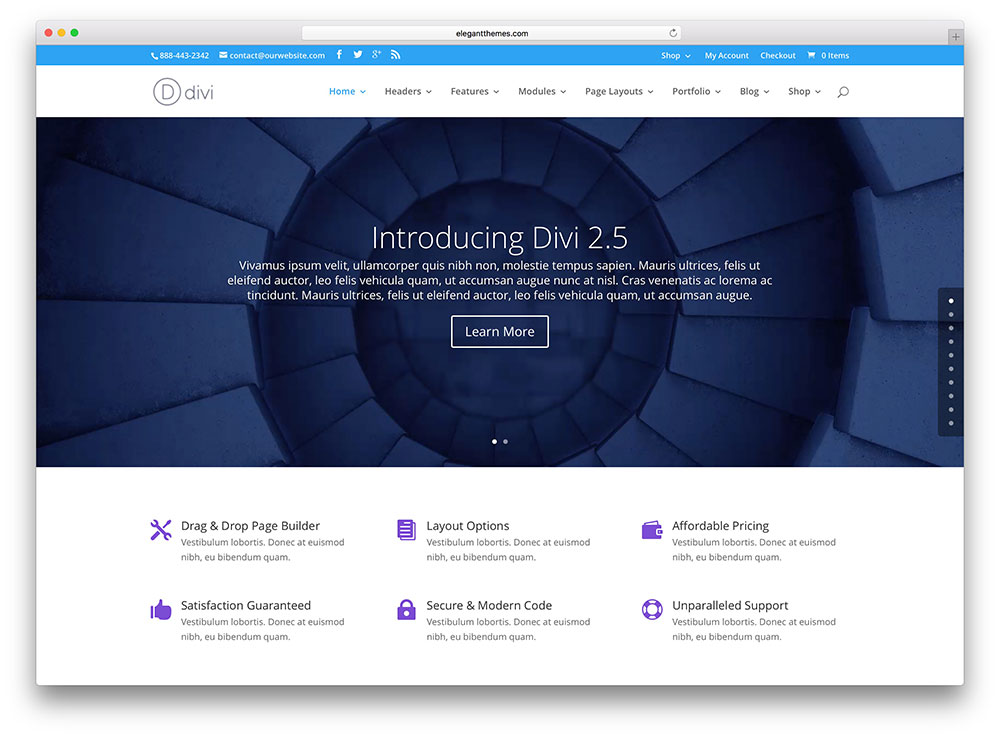 Divi Most Popular WordPress Theme
