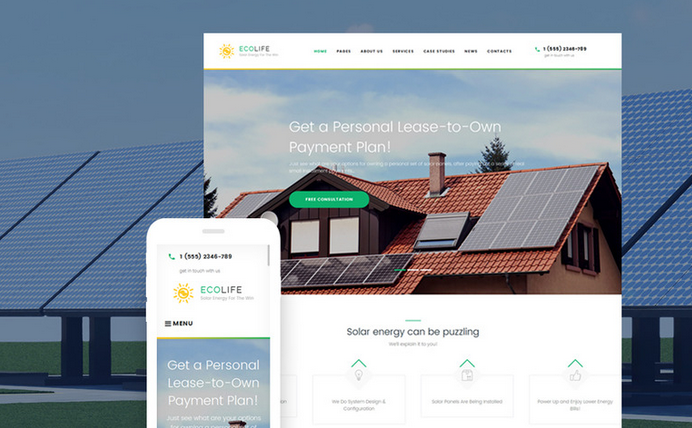 ecolife wordpress corporate business themes