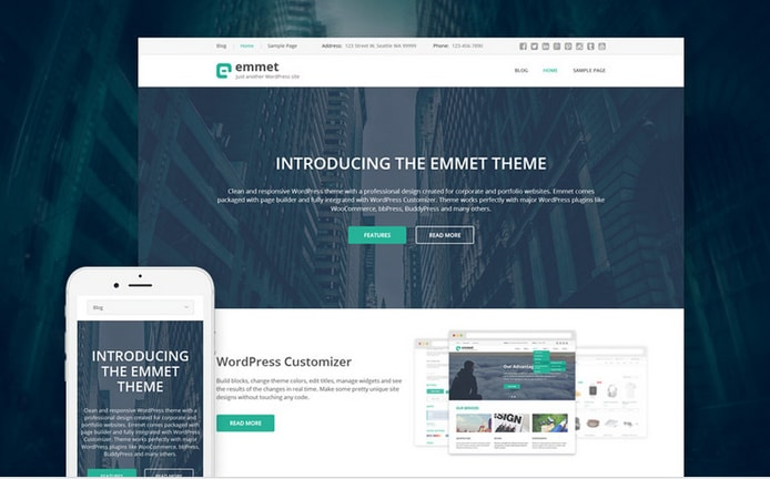 Emmet Responsive Business WordPress Theme