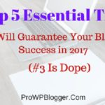 Top 5 Essential Tips That Will Guarantee Your Blogging Success in 2017 (#3 Is Dope)
