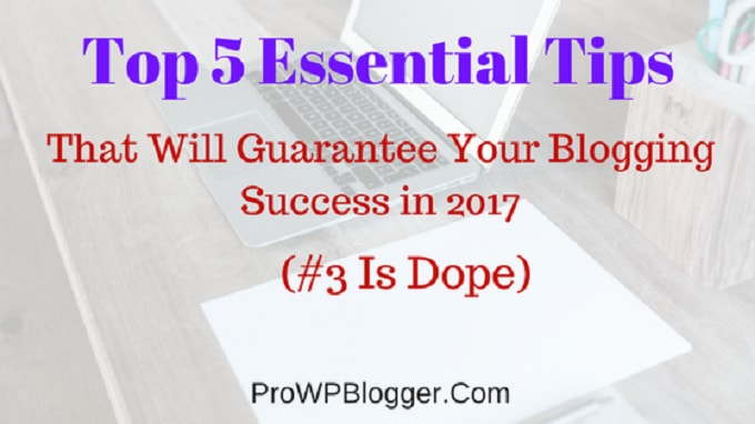5 Essential Tips That Will Guarantee Your Blogging Success in 2017